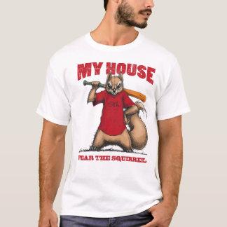 Miedo de la camiseta de la ardilla de la reunión
