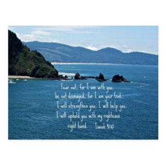 Miedo del 41:10 de Isaías no para mí estoy con ust Postal