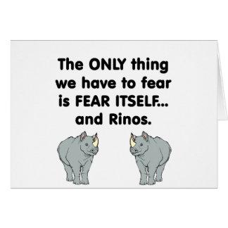Miedo sí mismo Rinos Tarjeta