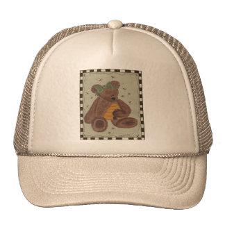 Miel del oso de peluche gorras de camionero