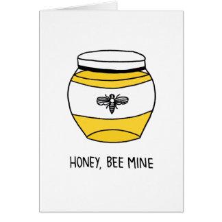 Miel, mina de la abeja tarjeta de felicitación