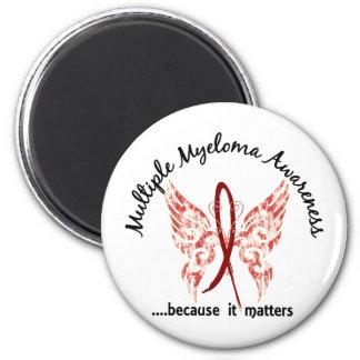 Mieloma múltiple de la mariposa 6,1 del tatuaje de imán redondo 5 cm