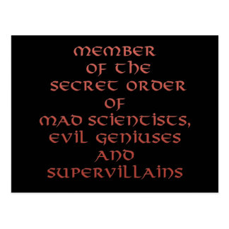 Miembro de las postales secretas de la orden
