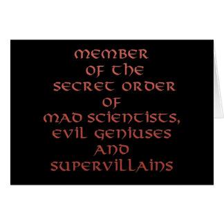 Miembro de las tarjetas de felicitación secretas d