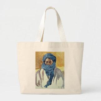 Miembro de una tribu Timbuctoo 1991 del Tuareg Bolsa Tela Grande
