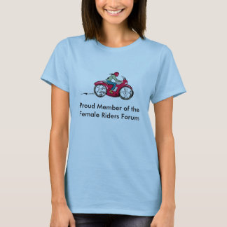Miembro orgulloso del foro femenino de los jinetes camiseta