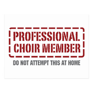 Miembro profesional del coro postales