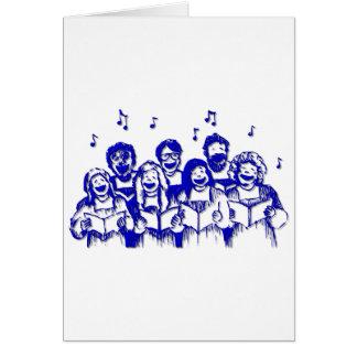 Miembros/cantantes del coro tarjeta de felicitación