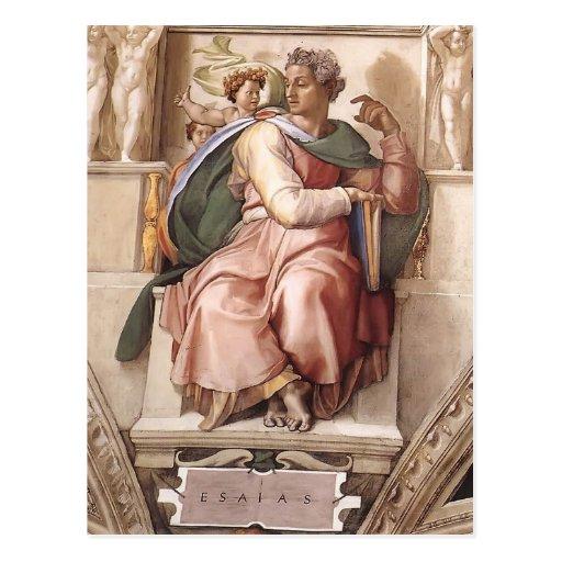Miguel Ángel: El profeta Isaías Postales