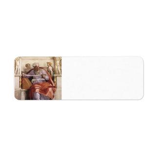 Miguel Ángel: Techo de la capilla de Sistine: Prof Etiqueta De Remite