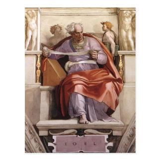 Miguel Ángel: Techo de la capilla de Sistine: Prof Postal