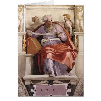 Miguel Ángel: Techo de la capilla de Sistine: Prof Tarjeta De Felicitación