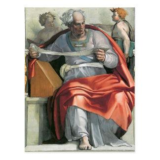 Miguel Ángel: Techo de la capilla de Sistine: Prof Tarjetas Postales