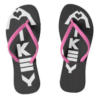 Mikey sandalias negras/rosadas de Sanley