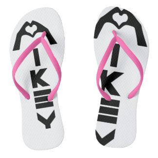 Mikey sandalias rosadas/blancas de Shanley