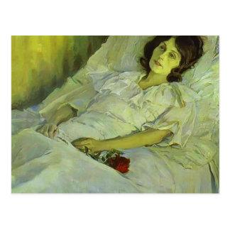 Mikhail Nesterov- un chica enfermo Tarjetas Postales