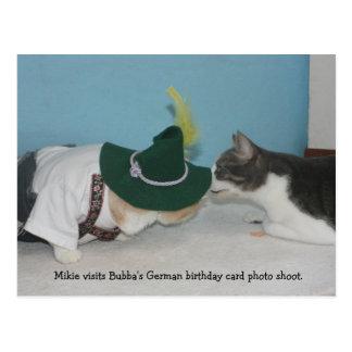 Mikie en la sesión fotográfica alemana de BD Postal