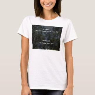 Mil cristiano Shalt no tentar al señor thy dios Camiseta