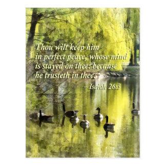 Mil de Isaías 26-3 se marchita lo mantiene paz Postal