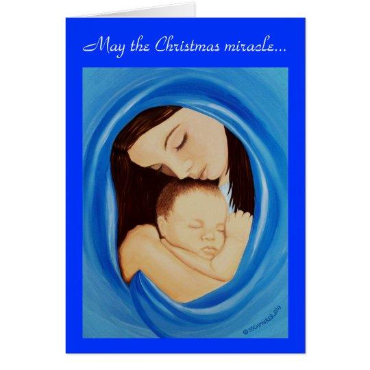 Milagro del navidad tarjeta de felicitación