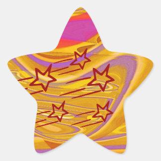 Milagros de la ESTRELLA - fecha de la reserva para Calcomanía Forma De Estrella Personalizada