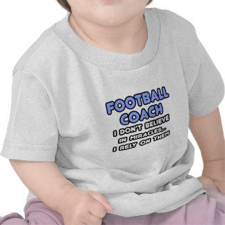 Milagros y entrenadores de fútbol camisetas