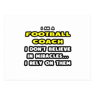 Milagros y entrenadores de fútbol… divertidos postal