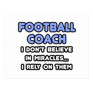 Milagros y entrenadores de fútbol postales