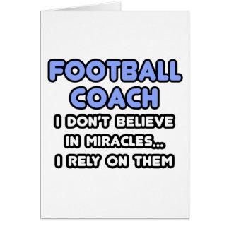 Milagros y entrenadores de fútbol tarjeta de felicitación