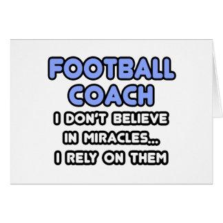 Milagros y entrenadores de fútbol tarjetas
