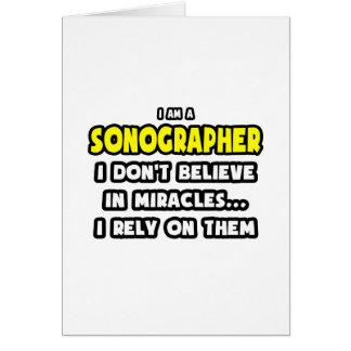 Milagros y Sonographers… divertidos Felicitación