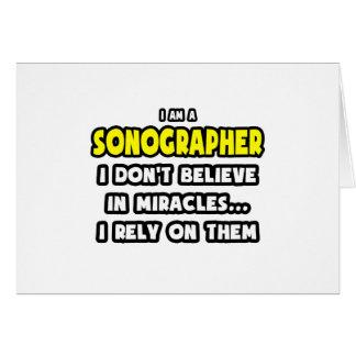 Milagros y Sonographers… divertidos Felicitacion
