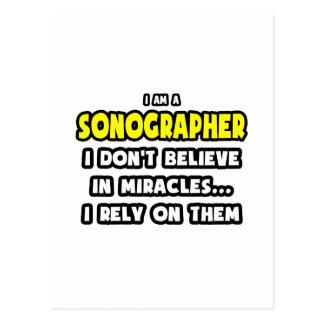 Milagros y Sonographers… divertidos Tarjeta Postal