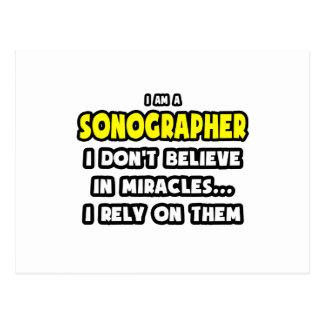 Milagros y Sonographers… divertidos Tarjetas Postales