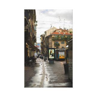Milano después de la impresión de la lona de la