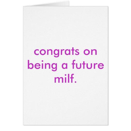 milf futuro tarjeta de felicitación