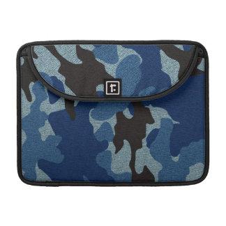 Militares azules de Camo mangas de Macbook de 13 Fundas Para Macbooks