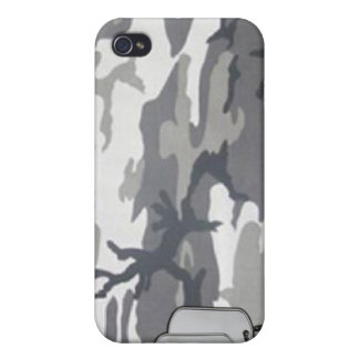 militares, camuflaje i del invierno del ejército iPhone 4 protectores