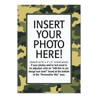 militares/camuflaje - invitación del cumpleaños