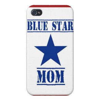 Militares de la mamá de la estrella azul iPhone 4/4S fundas