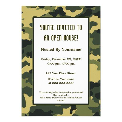 Militares/invitación del fiesta del camuflaje