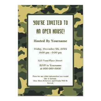 Militares/invitación del fiesta del camuflaje invitación 12,7 x 17,8 cm