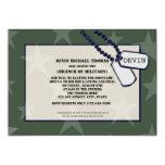Militares que van lejos estrellas del verde del invitación 12,7 x 17,8 cm