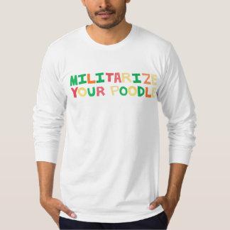 Militarice me/el color camiseta
