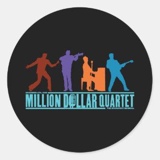 Millón de cuartetos del dólar en etapa etiqueta redonda