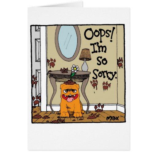 Milo triste de la tarjeta