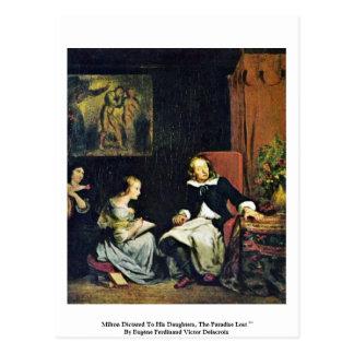 Milton dictó a sus hijas tarjetas postales