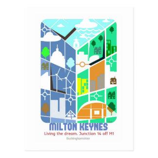 Milton Keynes. Viviendo la postal ideal