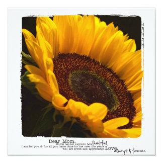 Mima a tarjetas planas de la fotografía del invitación 13,3 cm x 13,3cm