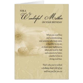 mime a la tarjeta de cumpleaños con el poema - bir